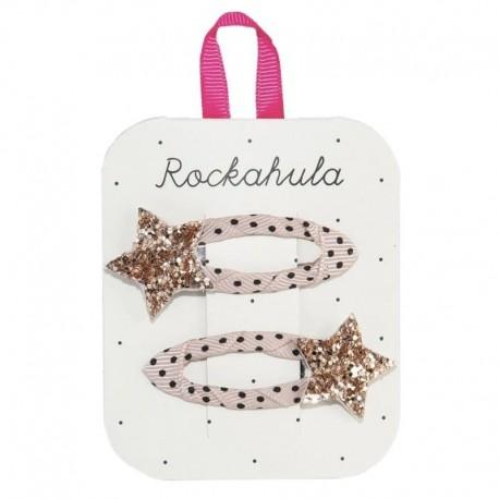 Rockahula Kids - spinki do włosów Star Burst Gold