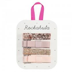 Rockahula Kids - 4 spinki do włosów Sparkle Bar Rose Gold