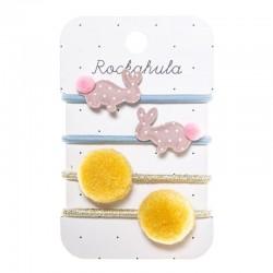 Rockahula Kids - gumki do włosów Hoppy Bunny