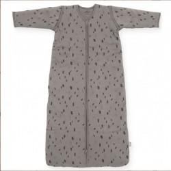 Jollein - Śpiworek niemowlęcy całoroczny 4 pory roku z odpinanymi rękawami Spot STORM GREY 90 cm