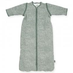 Jollein - Śpiworek niemowlęcy całoroczny 4 pory roku z odpinanymi rękawami Snake ASH GREEN 90 cm