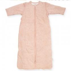 Jollein - Śpiworek niemowlęcy całoroczny 4 pory roku z odpinanymi rękawami Snake PALE PINK 90 cm