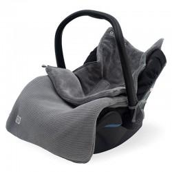 Jollein - Śpiworek oddychający do wózka i fotelika Basic Knit STONE GREY