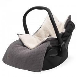 Jollein - Śpiworek oddychający do wózka i fotelika Bliss Knit STORM GREY