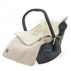 Jollein - Śpiworek oddychający do wózka i fotelika Bliss Knit NOUGAT