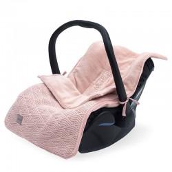 Jollein - Śpiworek oddychający do wózka i fotelika River Knit PALE PINK
