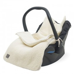 Jollein - Śpiworek do wózka i fotelika Teddy CREAM WHITE