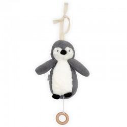 Jollein - Pozytywka do usypiania Pingwin STORM GREY