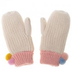 Rockahula Kids - rękawiczki zimowe Dreamy Rainbow Knit Bobble 3 -6 lat
