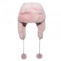 Rockahula Kids - czapka zimowa futerko Teddy Fur Dusky Pink 7 - 10 lat