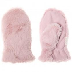 Rockahula Kids - rękawiczki zimowe futerko Teddy Fur Dusky Pink 3 - 6 lat