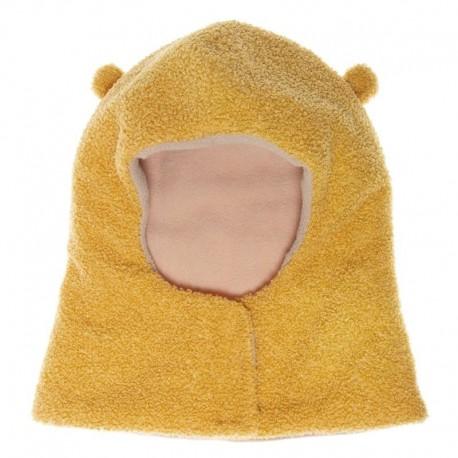 Rockahula Kids - czapka zimowa kominiarka rozpinana Billie Bear Boucle Ochre 3 - 6 lat