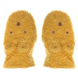 Rockahula Kids - rękawiczki zimowe Billie Bear Boucle Ochre 3 - 6 lat