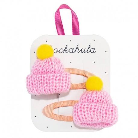 Rockahula Kids - spinki do włosów Knitted Bobble Hat