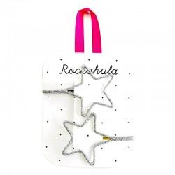 Rockahula Kids - wsówki do włosów Starry cut out glitter silver