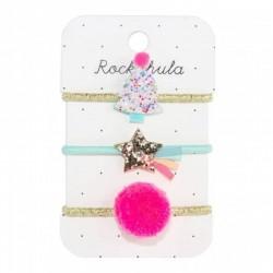 Rockahula Kids - 3 gumki do włosów Tutti Frutti Xmas Tree