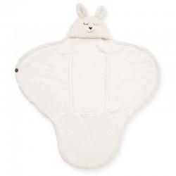 Jollein - Śpiworek otulacz do fotelika i wózka Bunny OFF WHITE
