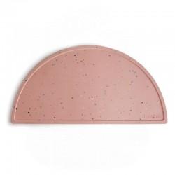 Mushie - Podkładka silikonowa na stół Powder Pink Confetti