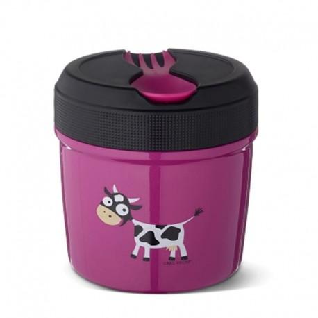 Carl Oscar TEMP Lunch Jar - Termos ze szlachetnej stali nierdzewnej 0,5 L Purple - Cow