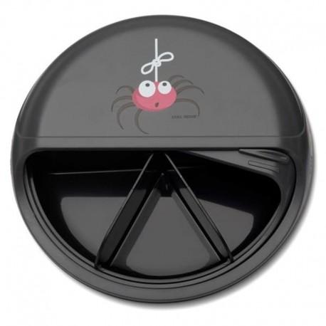Carl Oscar BIG SnackDISC™ 5 komorowy obrotowy pojemnik na przekąski Grey - Spider