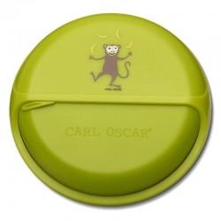 Carl Oscar BIG SnackDISC™ 5 komorowy obrotowy pojemnik na przekąski Lime - Monkey