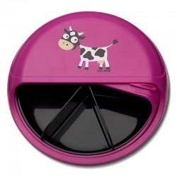 Carl Oscar BIG SnackDISC™ 5 komorowy obrotowy pojemnik na przekąski Purple - Cow
