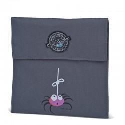 Carl Oscar Pack'n'Snack Sandwich Bag torebka termiczna na kanapki Grey - Spider