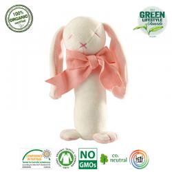 Maud N Lil Rose The Bunny Stick Rattle Grzechotka Organiczna Miękka