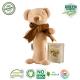 Maud N Lil Grzechotka organiczna miękka z BIO bawełny GOTS Cubby The Teddy Stick Rattle