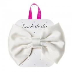 Rockahula Kids - spinka do włosów Satin lux Double bow Ivory