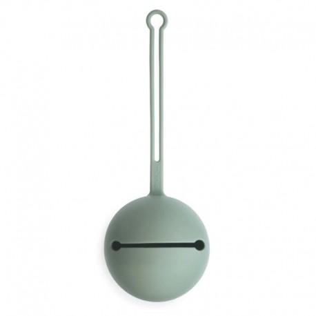 Mushie - Etui na smoczek do wózka Kula Ball Cambrige Blue