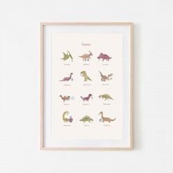 Mushie - Plakat Dinosaurs Large
