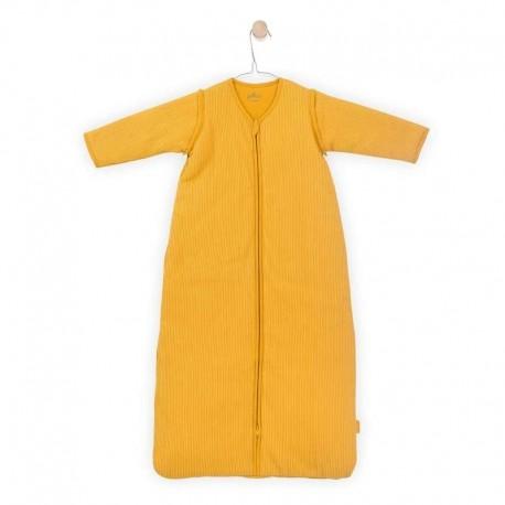 Jollein - Śpiworek niemowlęcy całoroczny 4 pory roku z odpinanymi rękawami Rib OCHER 70 cm