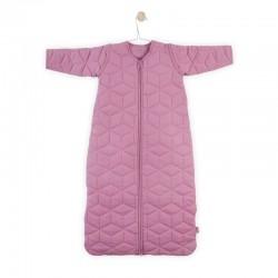 Jollein - Śpiworek niemowlęcy całoroczny 4 pory roku z odpinanymi rękawami Graphic Quilt MAUVE 110 cm