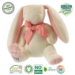 Maud N Lil Przytulanka pocieszyciel z organicznej BIO bawełny GOTS Rose the Bunny Soft