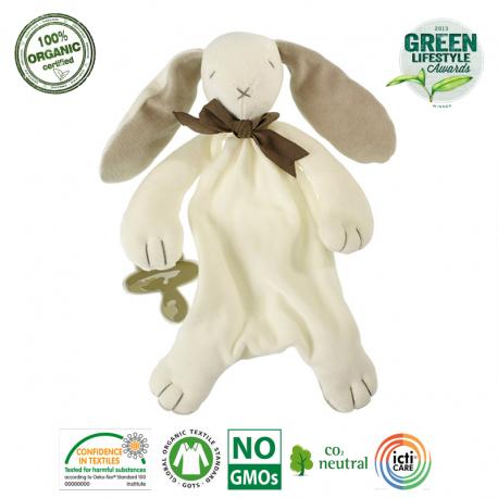 Maud N Lil Ears The Bunny Comforter Organiczny Mięciutki Pocieszyciel