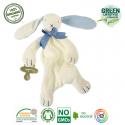 Maud N Lil Opiekun smoczka z organicznej BIO bawełny GOTS Oscar The Bunny Comforter 2in1