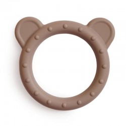 Mushie - Gryzak silikonowy bransoletka BEAR Natural