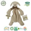 Maud N Lil Paws The Puppy Comforter Organiczny Mięciutki Pocieszyciel dou dou z łapką na smoczek