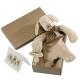 Maud N Lil Opiekun smoczka z organicznej BIO bawełny GOTS Paws The Puppy Comforter 2in1