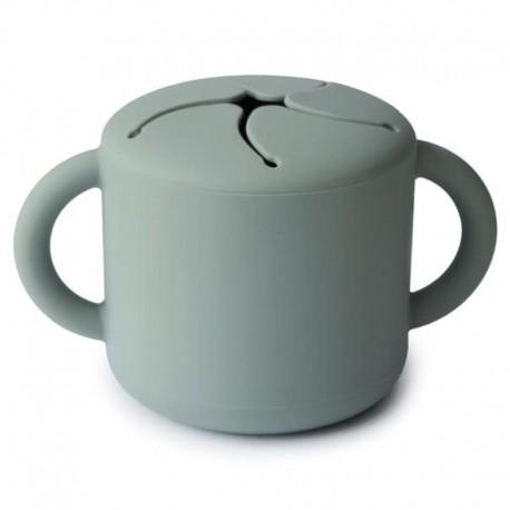 Mushie - Kubek niewysypek na przekąski SNACK CUP Cambridge Blue