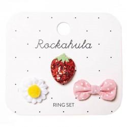 Rockahula Kids - 3 pierścionki Sweet Strawberry