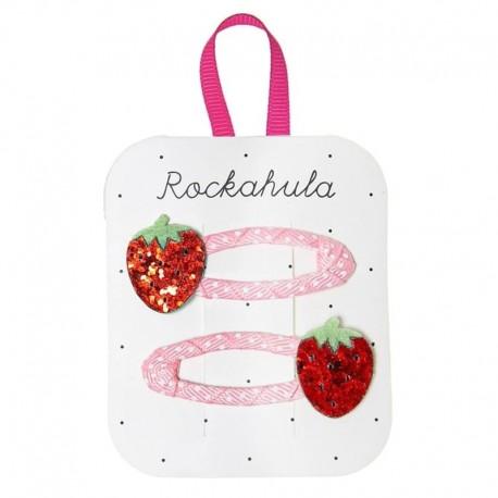 Rockahula Kids - spinki do włosów Sweet Strawberry Glitter