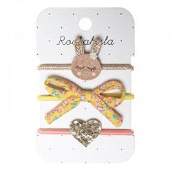 Rockahula Kids - 3 gumki do włosów Betty Bunny