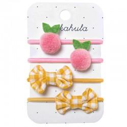 Rockahula Kids - 4 gumki do włosów Sweet Berry Pom Pom