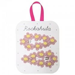 Rockahula Kids - spinki do włosów Crochet Flower Pink