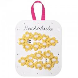 Rockahula Kids - spinki do włosów Crochet Flower Yellow