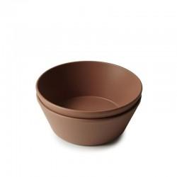 Mushie - 2 miseczki Round Caramel