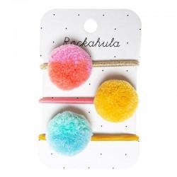 Rockahula Kids - gumki do włosów Candy Stripe Pom Pom