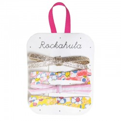 Rockahula Kids - 4 spinki do włosów Flower Power Skinny Bow
